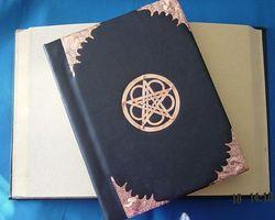 Grimoire pentagramme cuir et cuivre