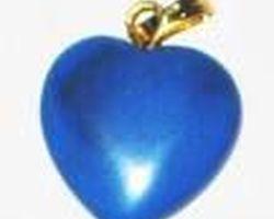Pendentif coeur agate bleue stgcab