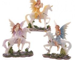 Figurine Fée sur licorne  LSGFY368