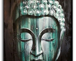 Tableaux de Bali Bouddha vert émeraude