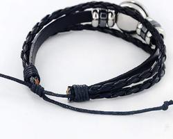 Bracelet cuir signe astrologique de la Vierge