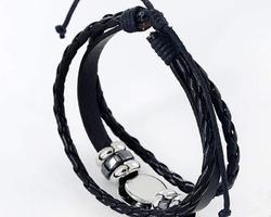 Bracelet cuir signe astrologique du Scorpion