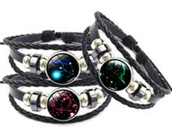 Bracelet cuir constellation zodiaque du Verseau