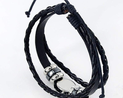 Bracelet cuir constellation zodiaque du Poisson
