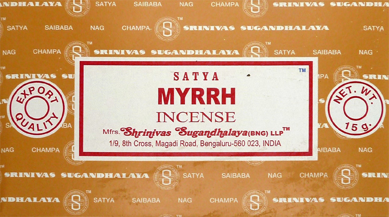 Encens Satya Myrrh