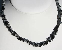 Collier Obsidienne mouchetée ou Flocon de neige