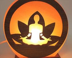Lampe de Sel Yoga Méditation