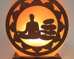 Lampe de Sel Yoga Méditation N°2